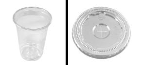 クリアカップ(約14オンス)+平蓋リッド